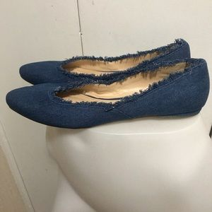 Metaphor Blue Flat Shoes Jean Style Size 11